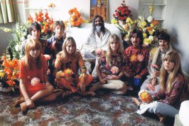 Swami with Beatles